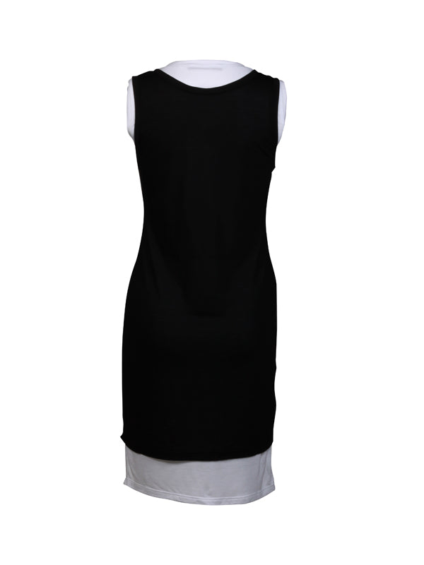 Black & White double dress sleeveless Top