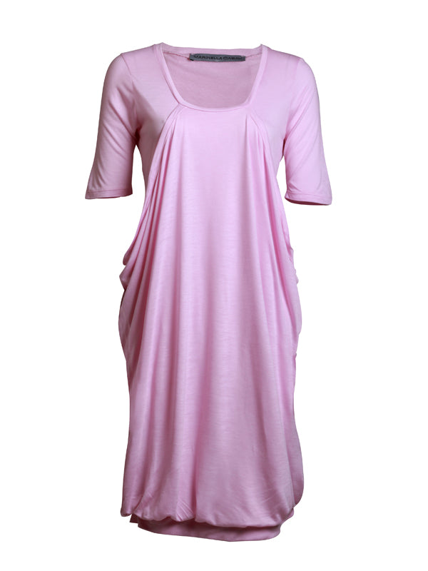 Pink knee-length dress