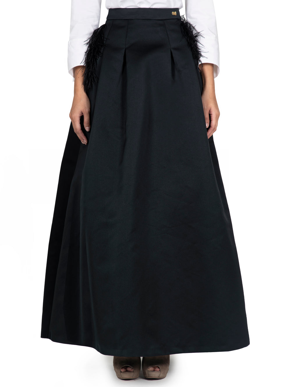 Plain Black A line Skirt