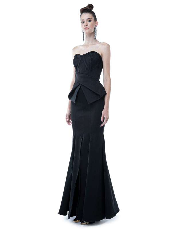 Black Silhouette Long Skirt