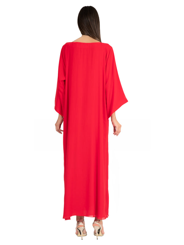 Ruby Embellished Kaftan