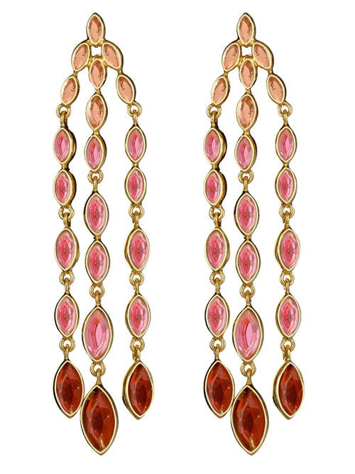 Mirror Gems Waterfall Earring, ISHARYA - elilhaam.com