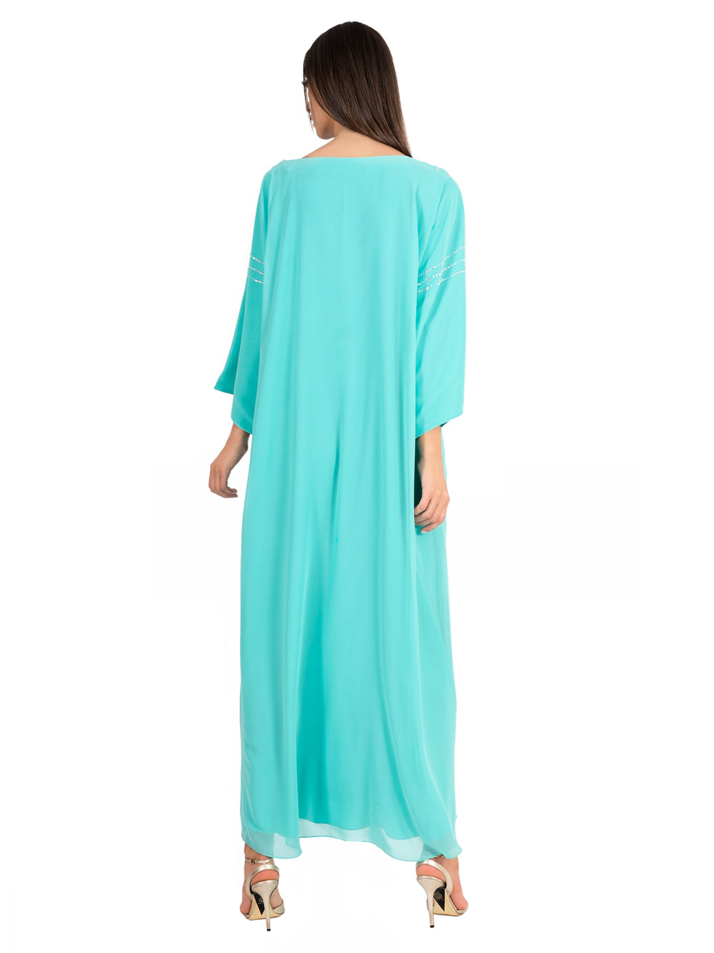 Blue Snow Embellished Kaftan