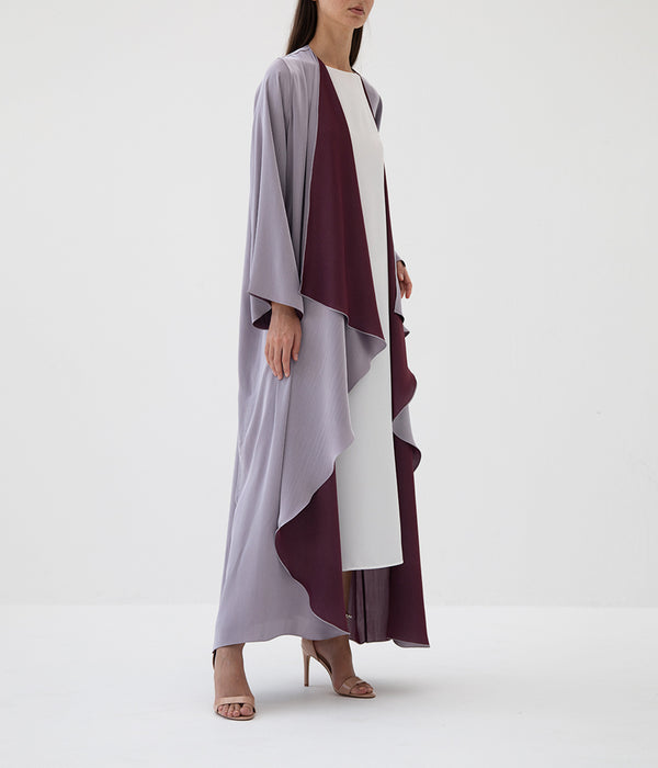 Two Shaded Pastel Reversible Abaya