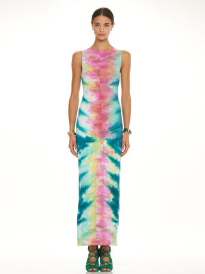 Slit Back Column Dress, MARA HOFFMAN - elilhaam.com