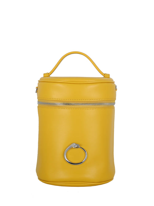 Elegant Yellow Bucket Bag