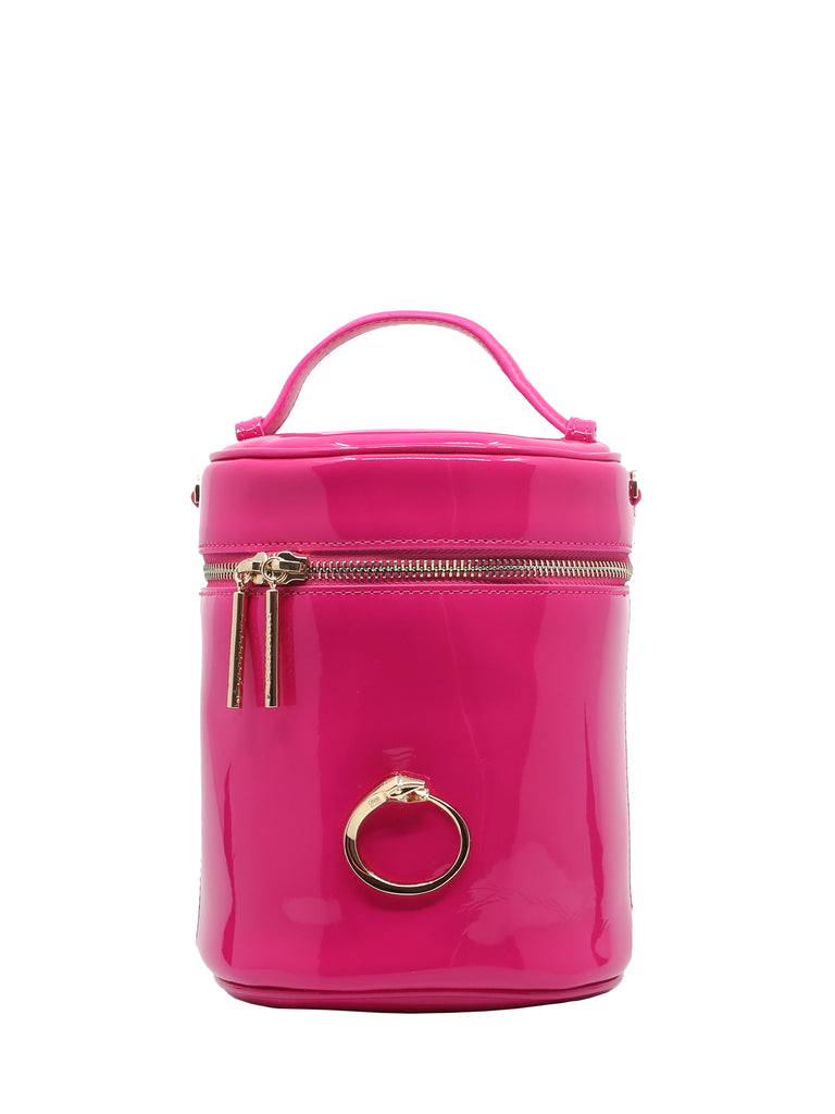 Fuchsia Gold-Toned Signature Bucket Bag