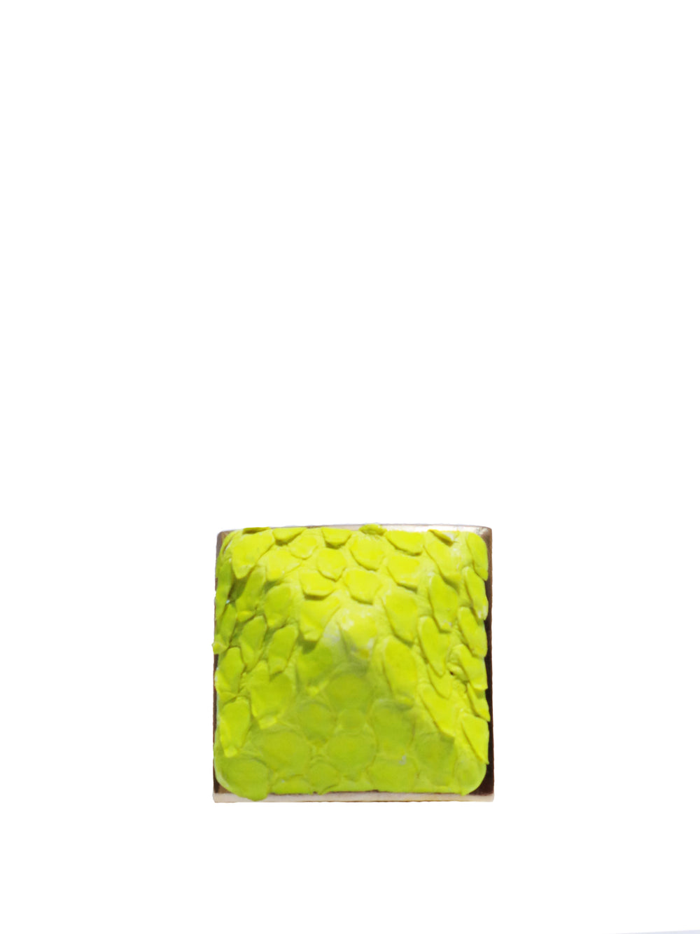 Exotic Pyramid Ring in Neon Yellow, TED ROSSI - elilhaam.com