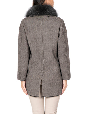 Wool-Blend Double Breasted Jacket