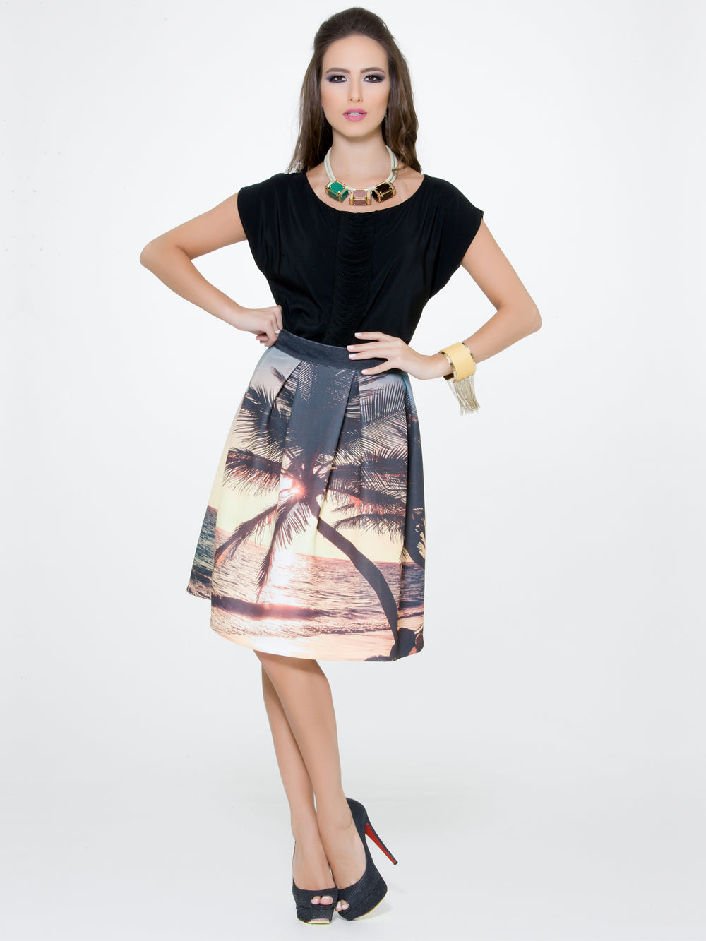 Pleated Skirt, CJF - elilhaam.com