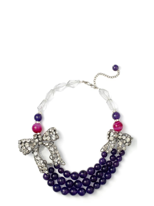 Crystal, Agate & Amethyst Darling Necklace