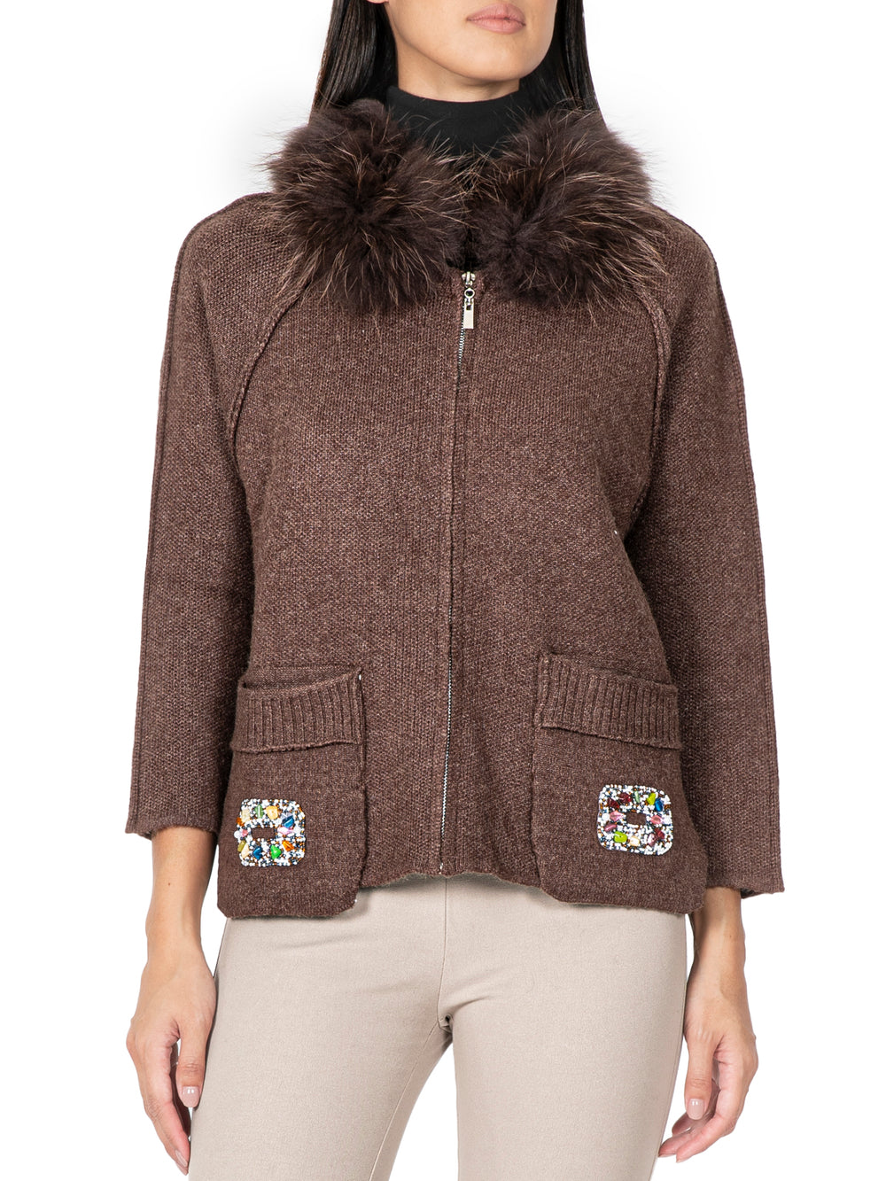 Embellished Cashmere Jacket