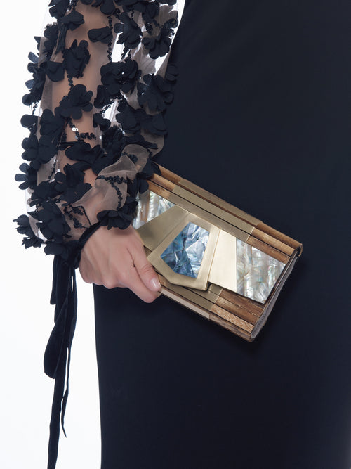Donita Strip Clutch, MELE+MARIE - elilhaam.com