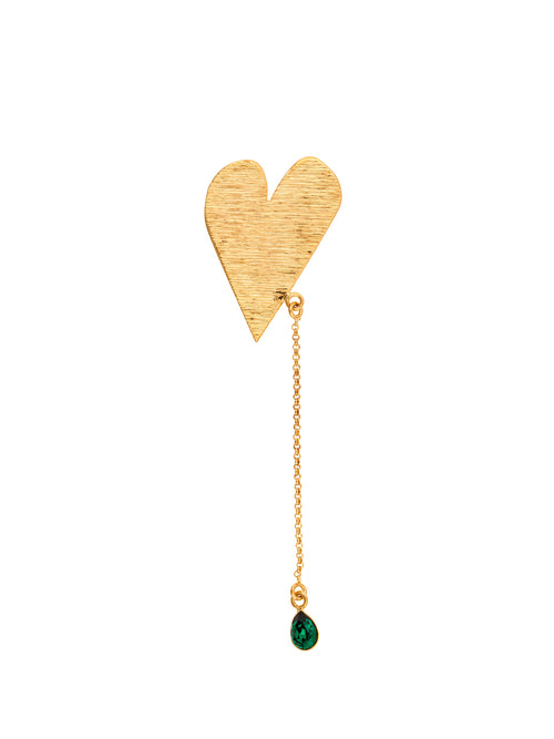 Heart Gold Plated Brass Pin, 10 DECOART - elilhaam.com