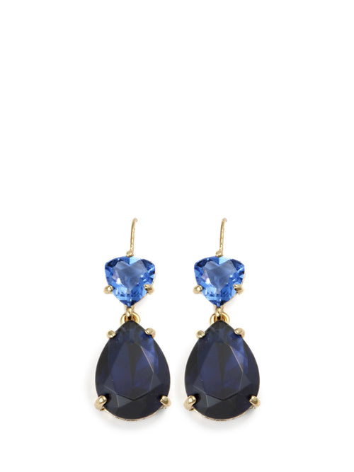 Crystal Libra Earring Blue, ISHARYA - elilhaam.com