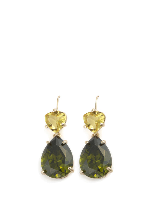 Crystal Libra Earring Green, ISHARYA - elilhaam.com