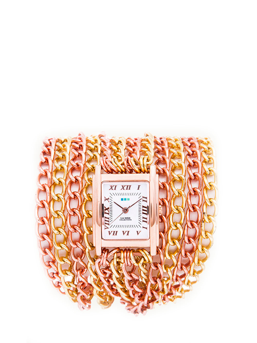 Chain Wrap Watch - Rose Gold, LA MER COLLECTIONS - elilhaam.com