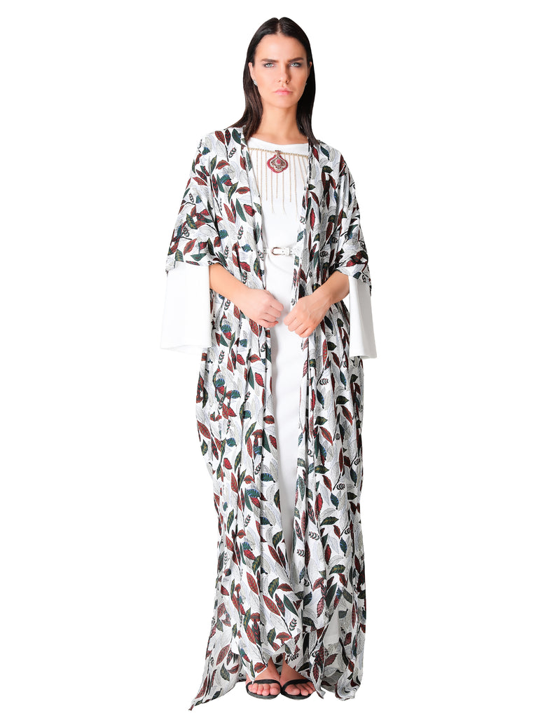 Tropical Printed Open Style Kaftan
