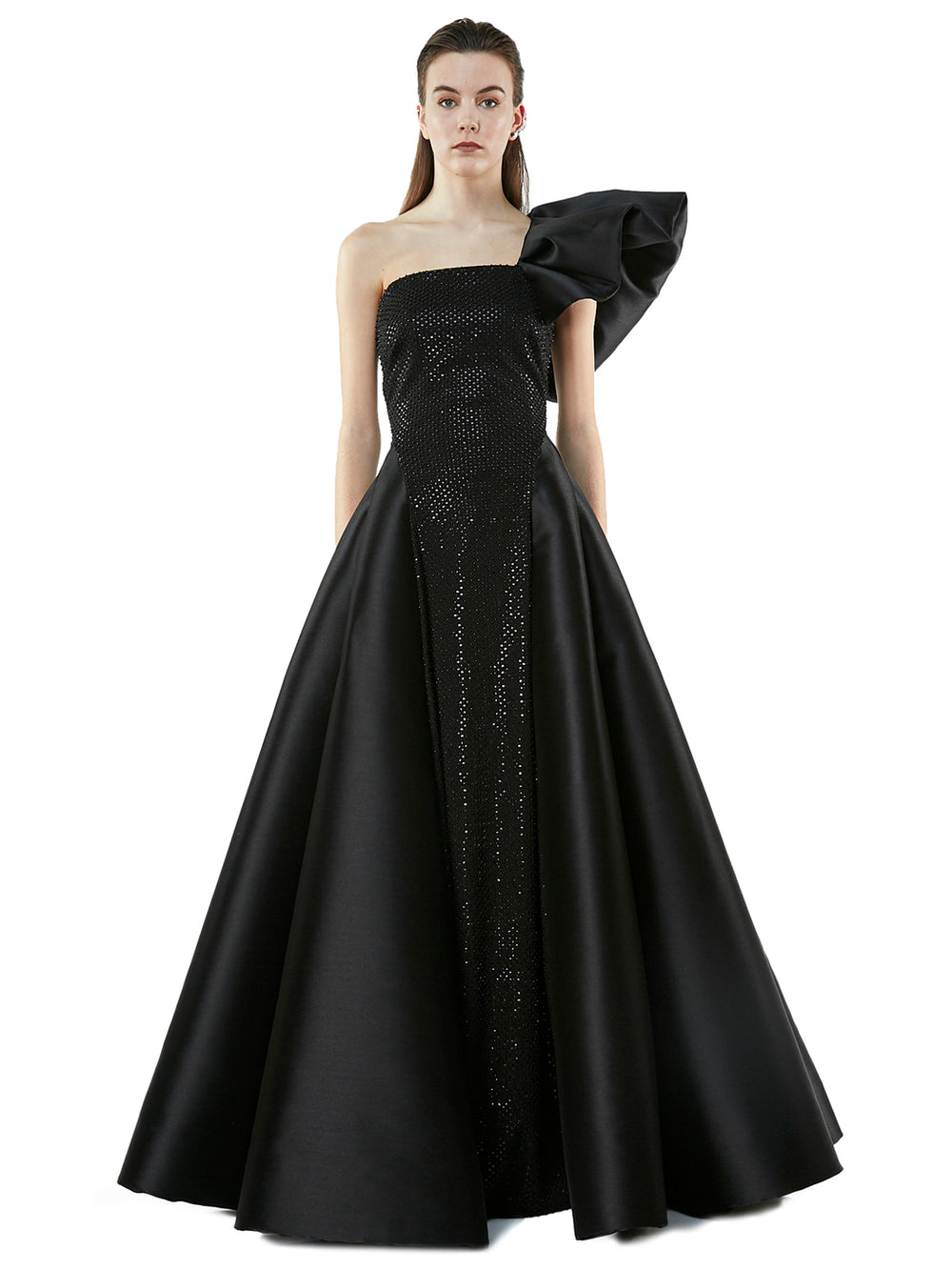 Angelina Black Pearls Dress
