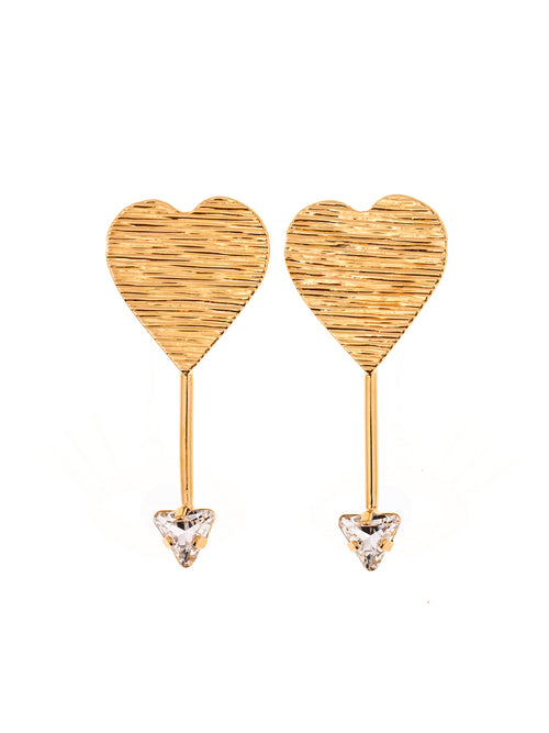 Amor Gold Plated Brass Earrings, 10 DECOART - elilhaam.com