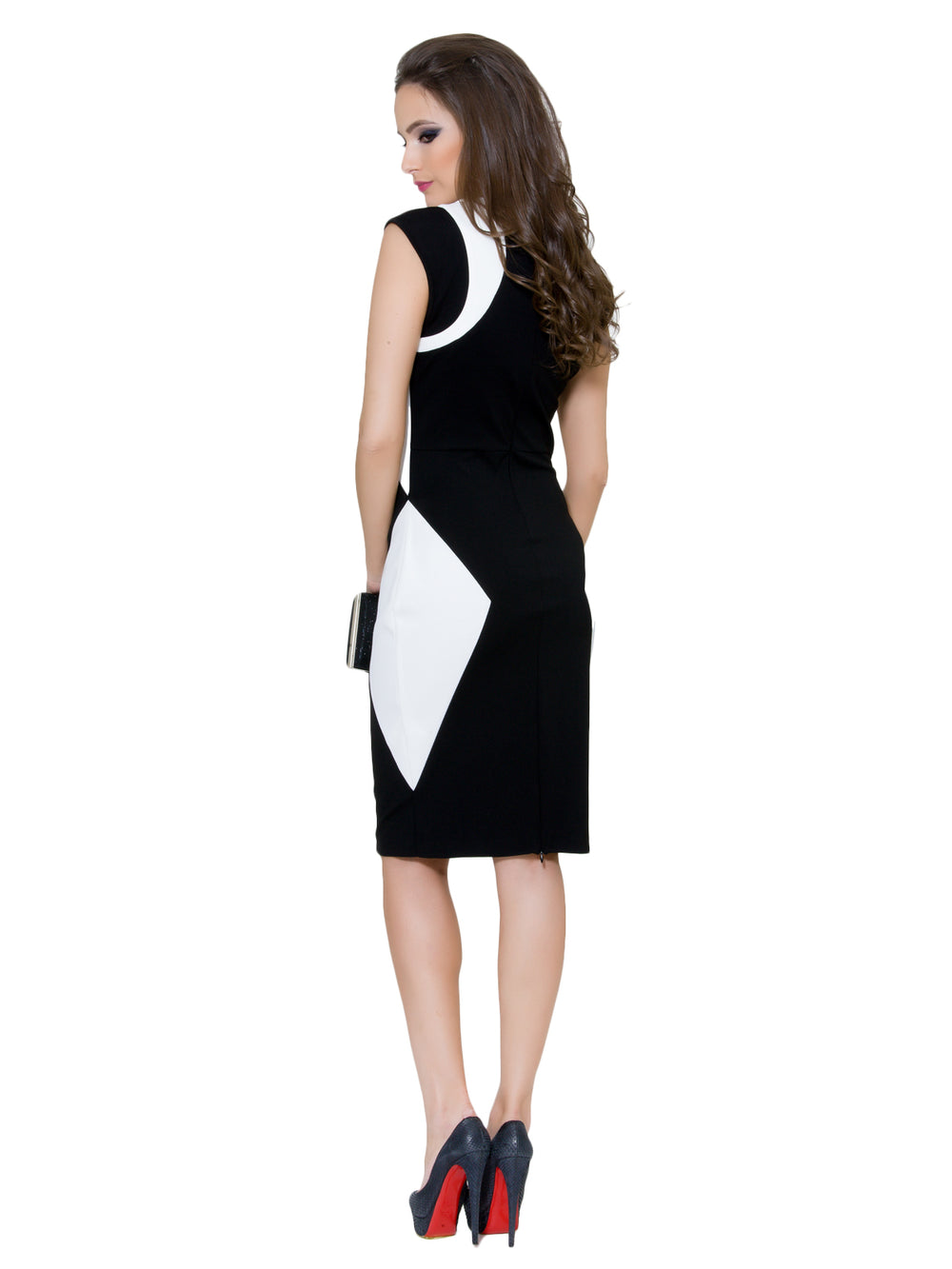 Color Block Sheath Dress, BYBLOS - elilhaam.com