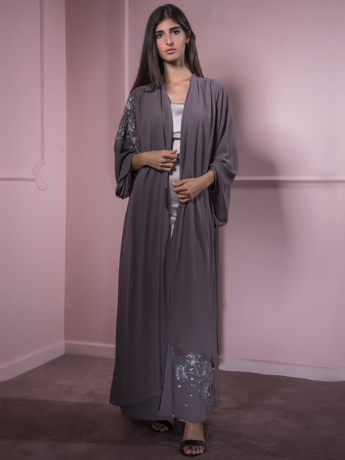 Layered Blossom Abaya, MOONOIR - elilhaam.com