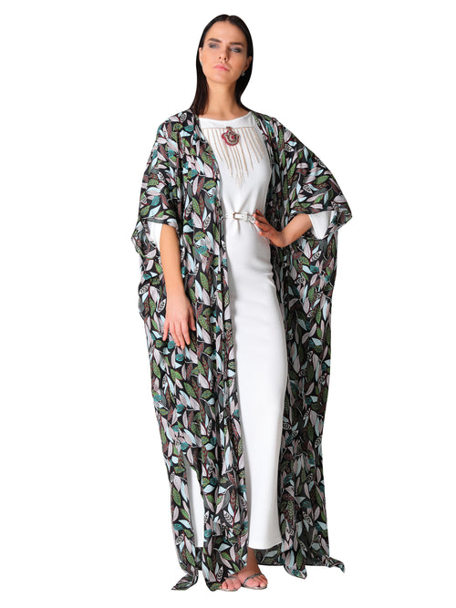 Tropical Print Kaftan