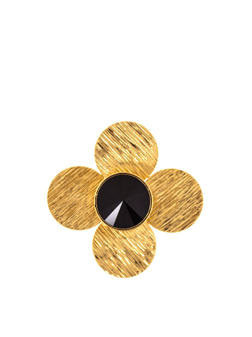 Molettee Big Flower Gold Plated Brass Pin, 10 DECOART - elilhaam.com