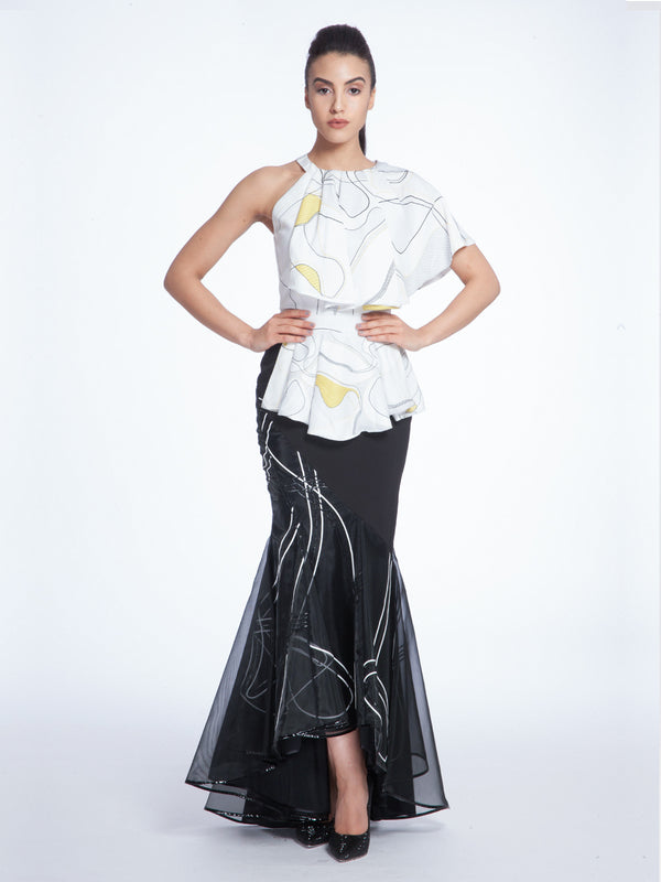 Black Mermaid Skirt, AVARO FIGLIO - elilhaam.com