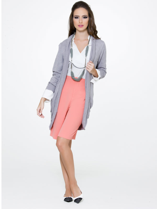 Grey Knitted Blazer, CJF - elilhaam.com