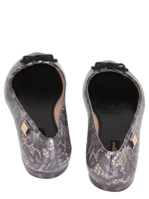 Rubber Lace Ballerina, DOLCE AND GABBANA - elilhaam.com
