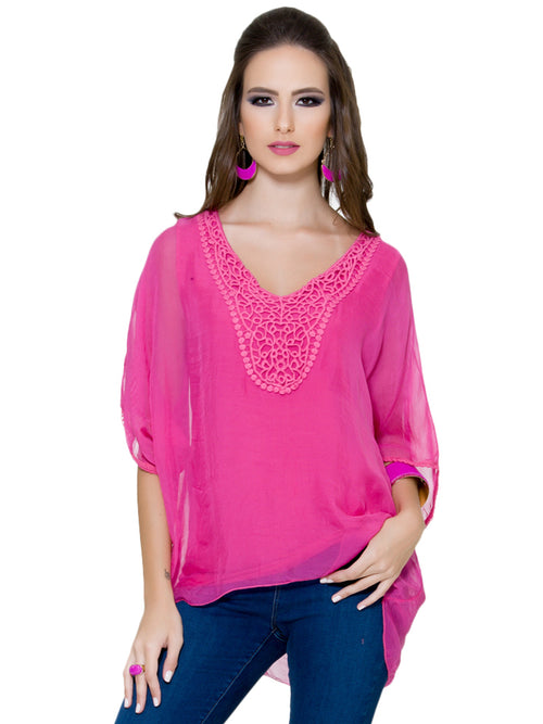 Fuschia  Top, CJF - elilhaam.com