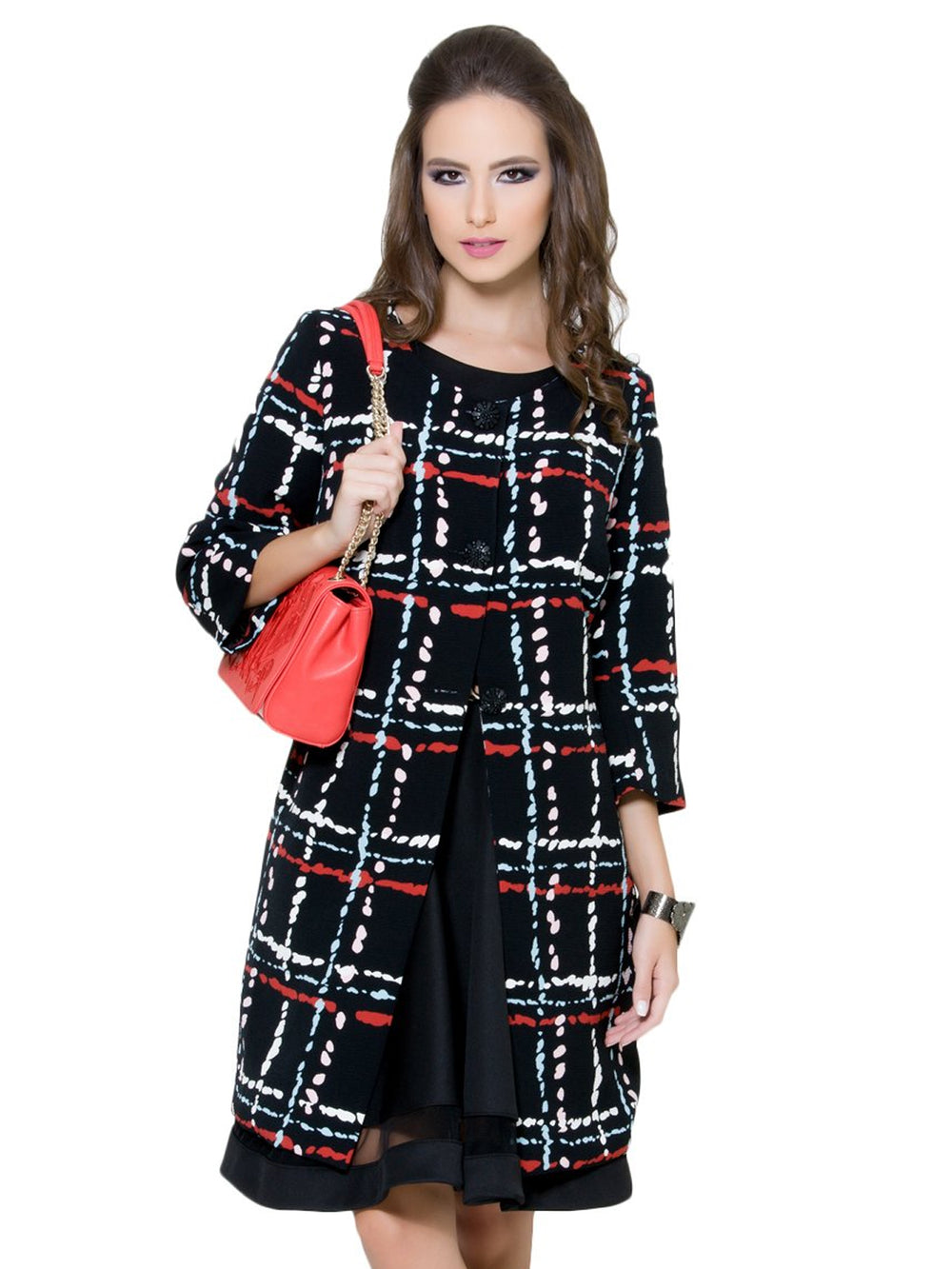 Square Prints Coat