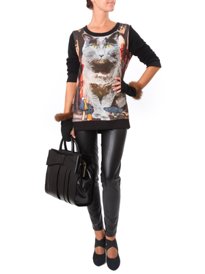 Cat Cely Sweater, LEITMOTIV - elilhaam.com
