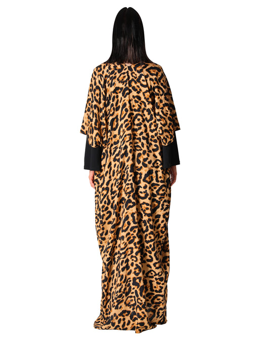 Leopard Print Kaftan Dress