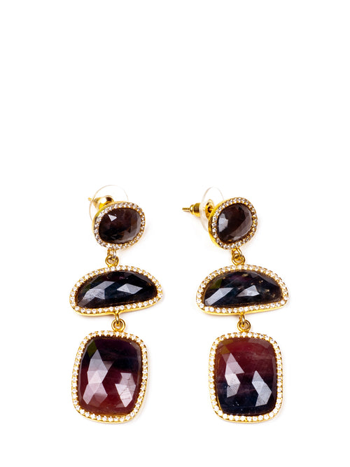 Trio Gem Earrings, KOUKLA - elilhaam.com