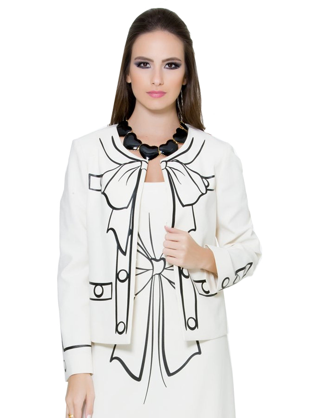 White Bow Jacket
