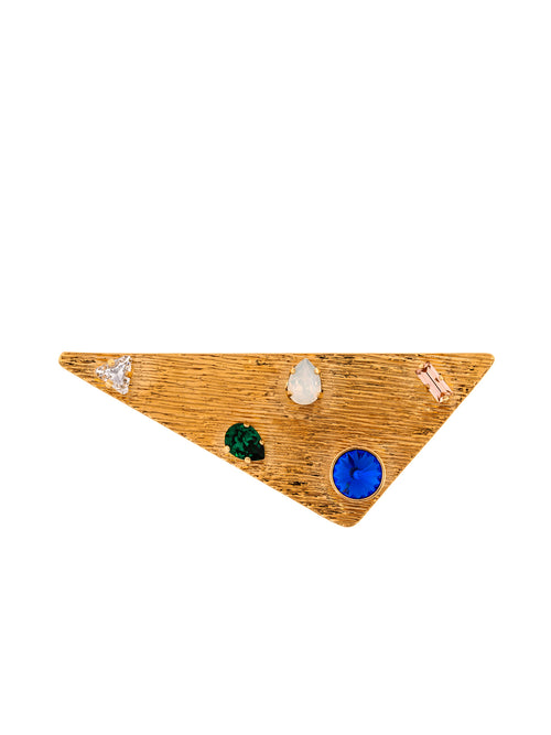 Triangle Gold Plated Brass Pin, 10 DECOART - elilhaam.com
