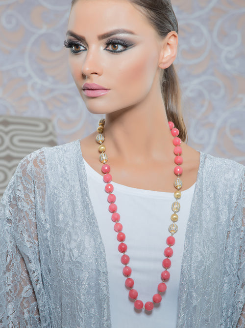Coral Beads necklace, TANZILA RAB - elilhaam.com