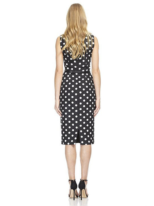 Boatneck Printed Jacquard Day Dress, DAVID MEISTER - elilhaam.com