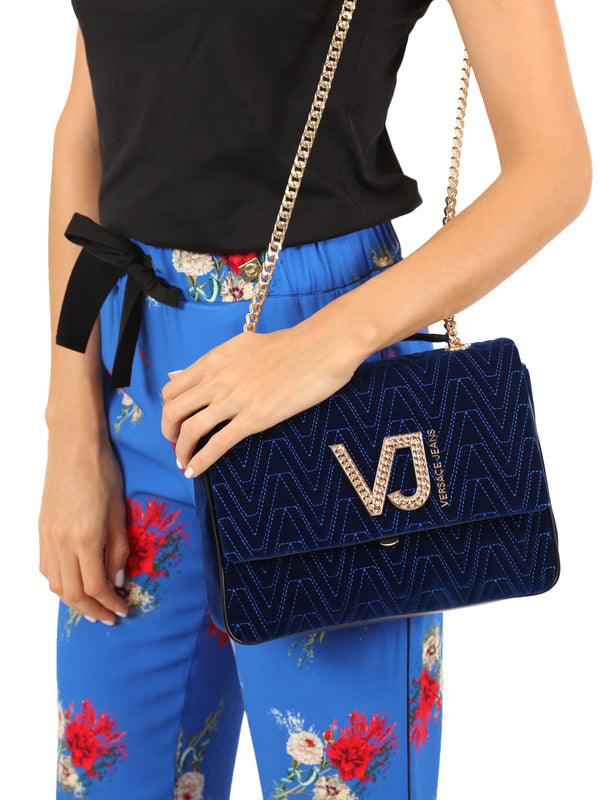 Blue Velvet Cross-body Bag