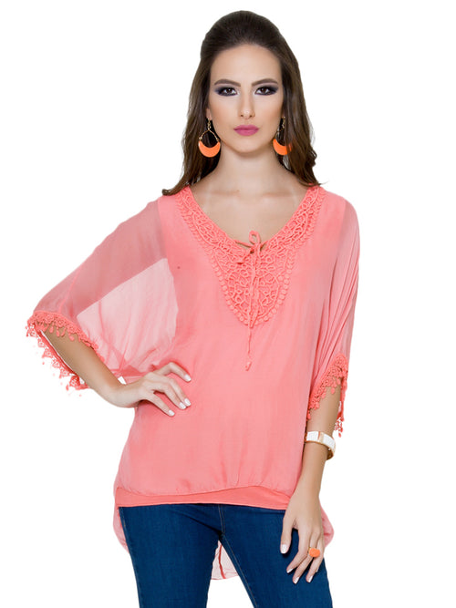Neon Orange Top, CJF - elilhaam.com