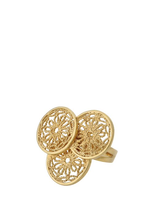 Daisy Discs Filigree Ring, Accessories,Designers, ISHARYA - elilhaam.com
