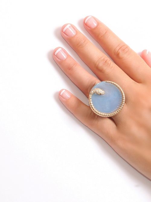 Druzy Snake Resin Ring, Accessories,Designers, ISHARYA - elilhaam.com