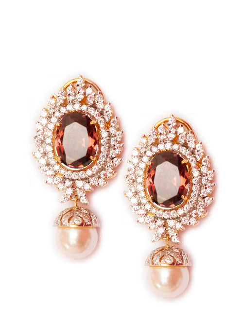 Classic Vintage Pearl Drop Earrings, TANZILA RAB - elilhaam.com