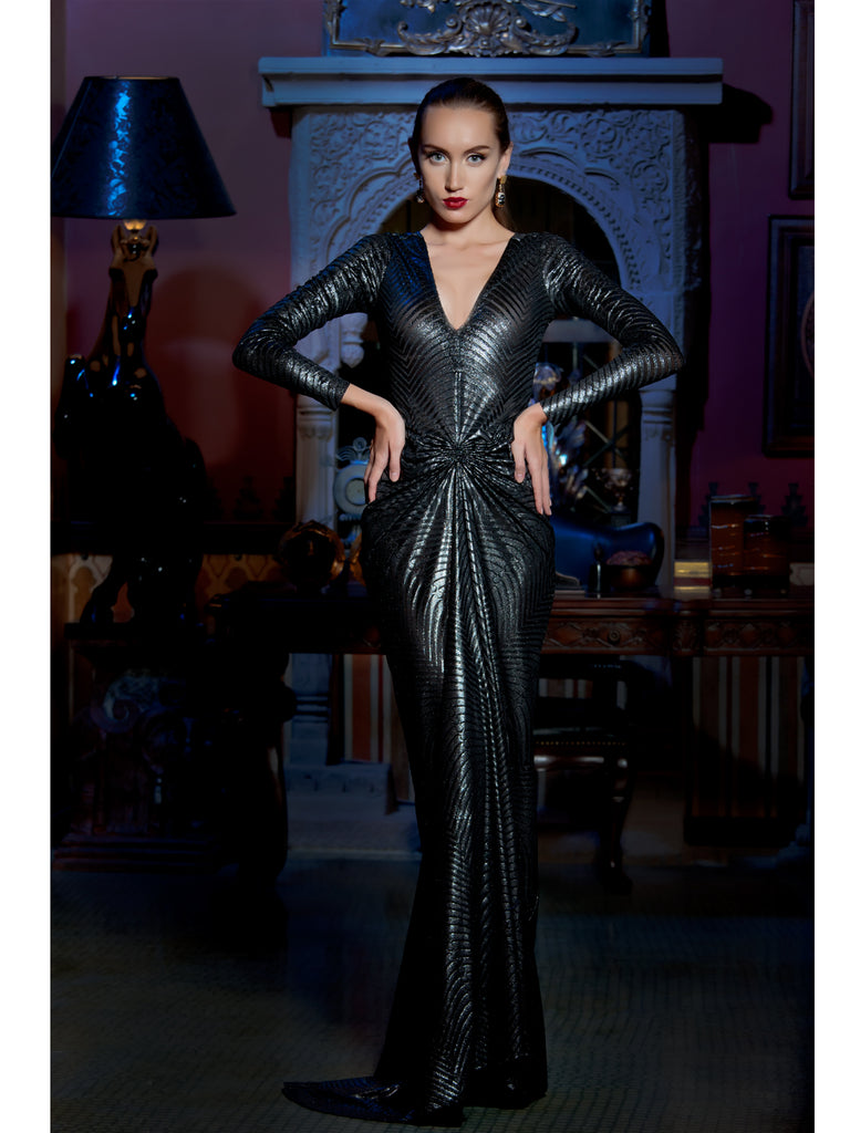 Silver Show Stopper Dress, MOONOIR - elilhaam.com