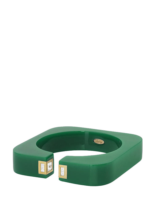 Vendome Square Cuff Emerald Green, ISHARYA - elilhaam.com