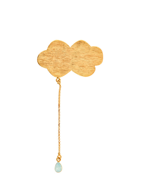 Molettee Cloud Gold Plated Brass Pin white, 10 DECOART - elilhaam.com