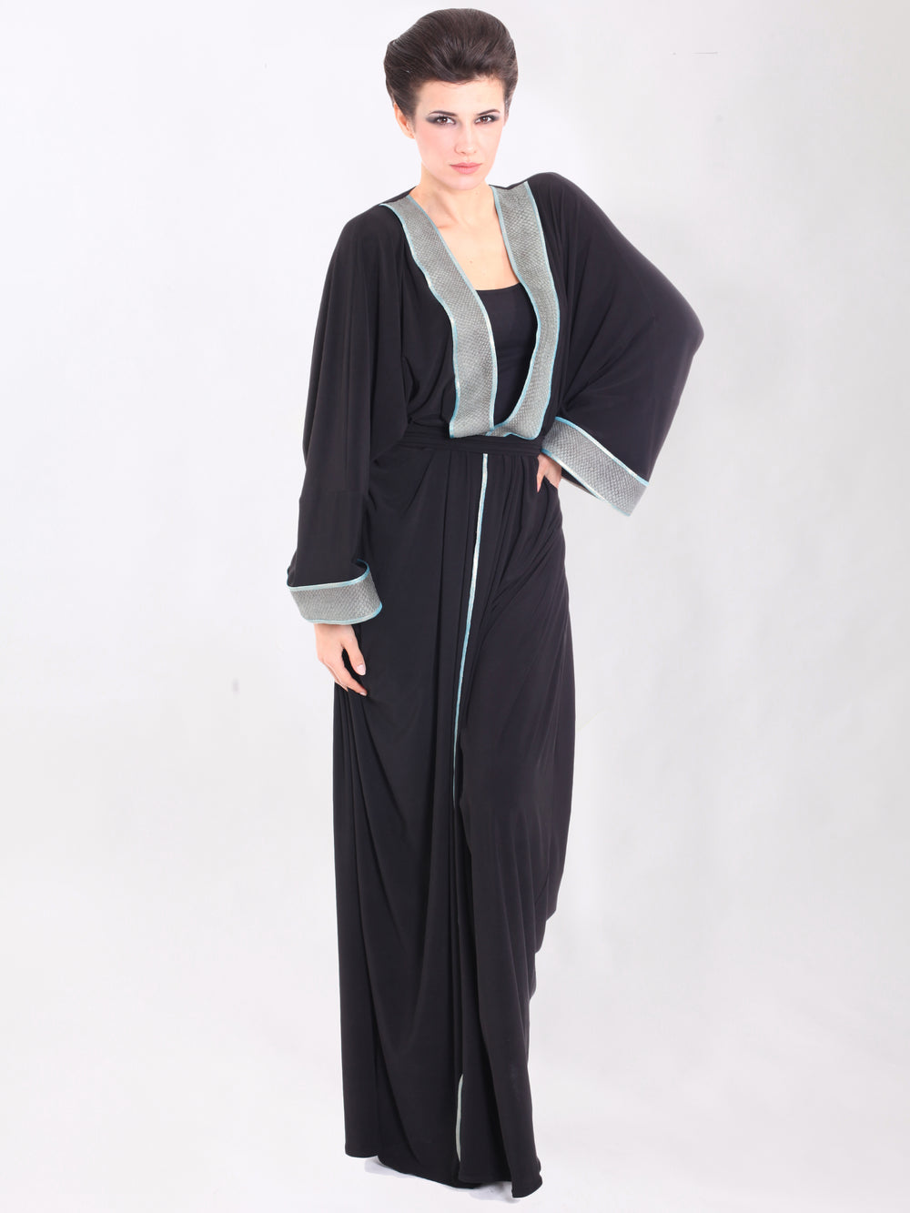 Blue Skin Bisht, QUEEN OF SPADES BY LAMYA ABEDIN - elilhaam.com