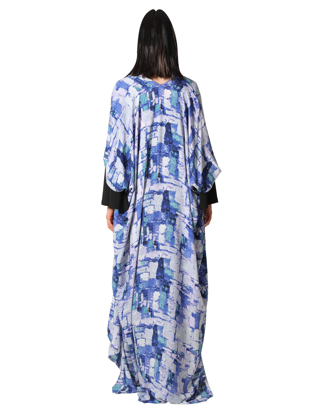 Block Print Open Kaftan Dress